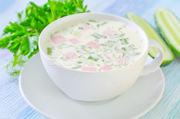 Сток-фото: холодно · суп · лист · зеленый · еды · жидкость
