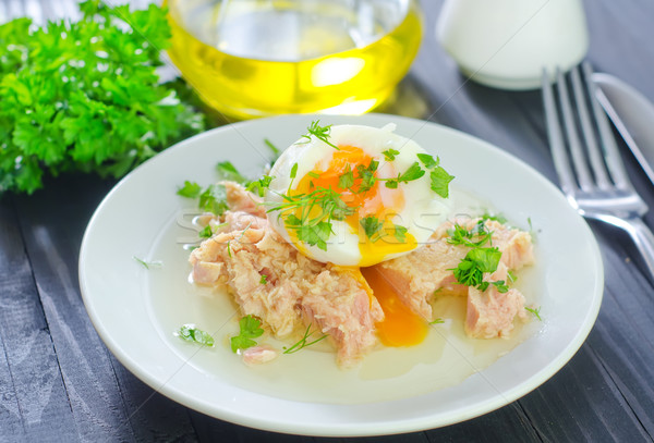 salad with tuna and boiled egg Stock photo © tycoon