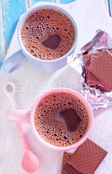 cocoa drink with chocolate Stock photo © tycoon