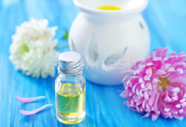 Aroma Öl Blumen Feuer medizinischen Gesundheit Stock foto © tycoon