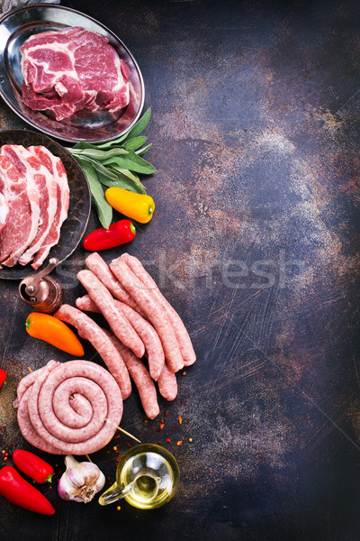 meat and sausages Stock photo © tycoon