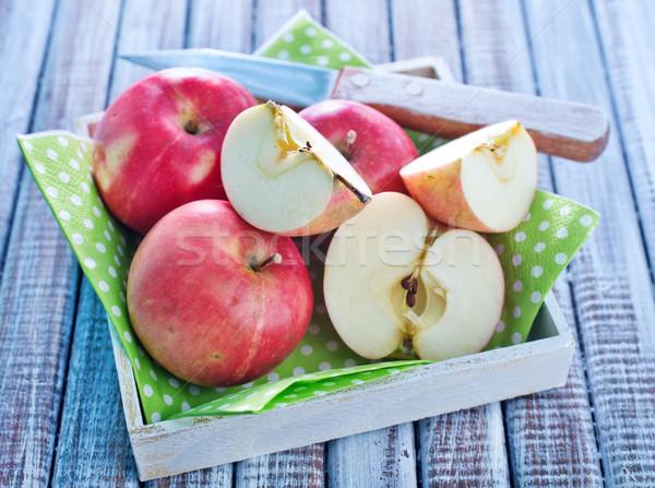 Appels boom voedsel hout appel vruchten Stockfoto © tycoon