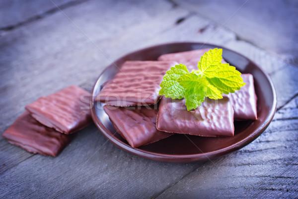 Csokoládé textúra étel zöld tej cukorka Stock fotó © tycoon