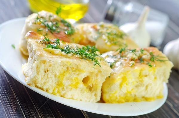 Fresche pane aglio alimentare legno vetro Foto d'archivio © tycoon