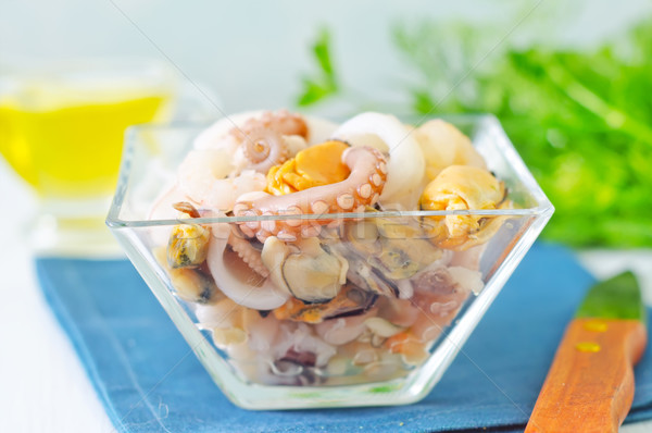 Frutti di mare alimentare salute sfondo piatto mangiare Foto d'archivio © tycoon