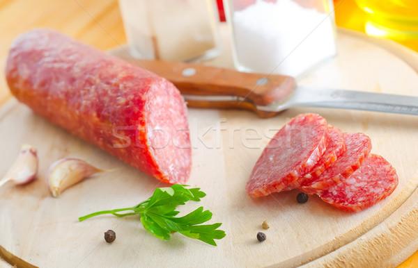 サラミ 食品 パン 肉 脂肪 料理 ストックフォト © tycoon