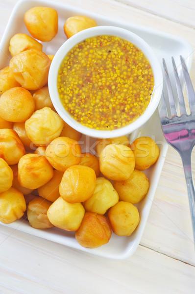 Krumpli golyók sajt vacsora forró ebéd Stock fotó © tycoon