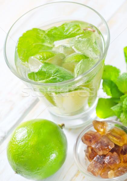 Mojito festa vidro tabela coquetel limão Foto stock © tycoon