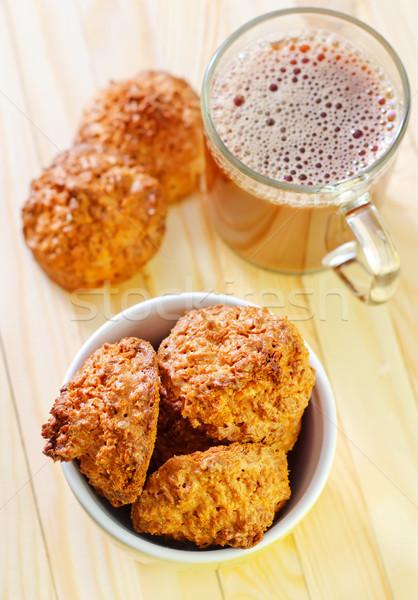Cookies cioccolato latte caldo dessert miele Foto d'archivio © tycoon