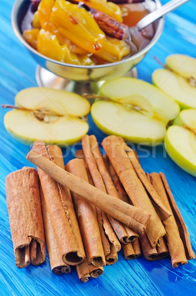 cinnamon and apples Stock photo © tycoon