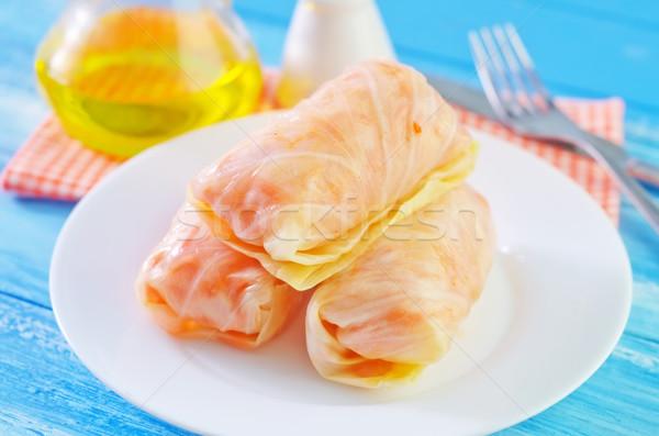 Savanyú káposzta étel fény otthon konyha sárgarépa Stock fotó © tycoon