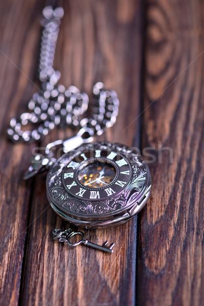 Vintage reloj de bolsillo reloj de arena arena temporizador símbolos Foto stock © tycoon