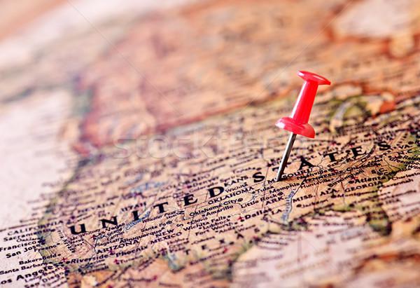 Vecchia mappa mappa texture mondo metal bussola Foto d'archivio © tycoon