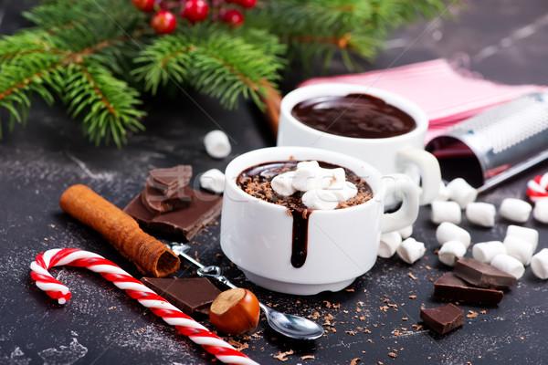 горячий шоколад Spice Кубок фон зима молоко Сток-фото © tycoon