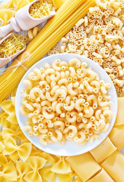 Ruw pasta gezondheid achtergrond vak eten Stockfoto © tycoon