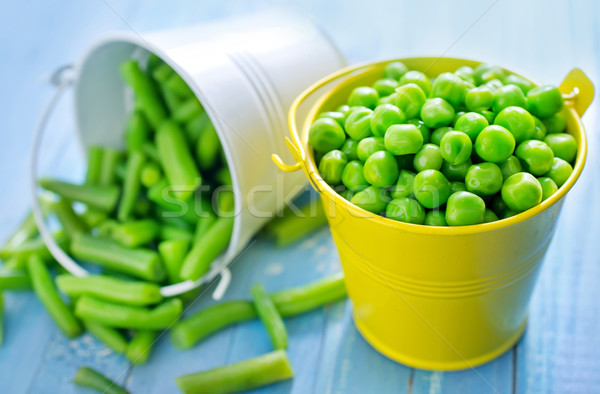 Vert fèves pois bean table cheveux Photo stock © tycoon