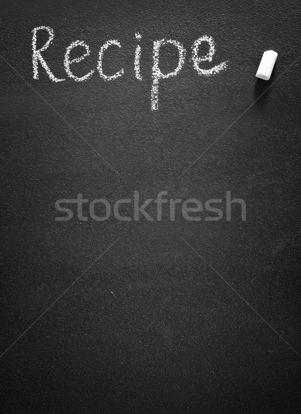 black board for recipe Stock photo © tycoon