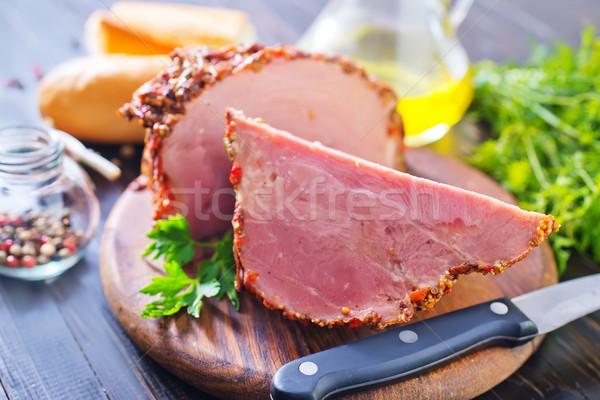 Fumado carne comida cozinha jantar gordura Foto stock © tycoon