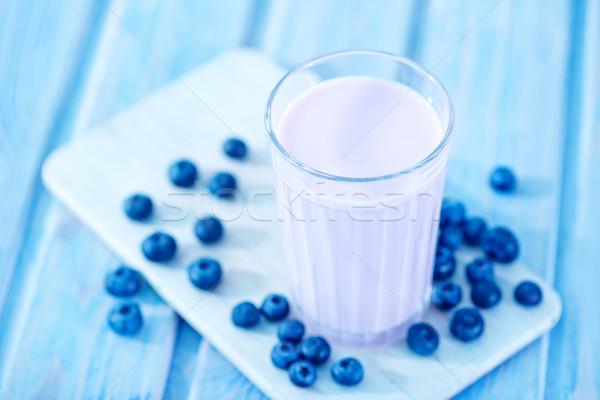 blueberry yogurt Stock photo © tycoon