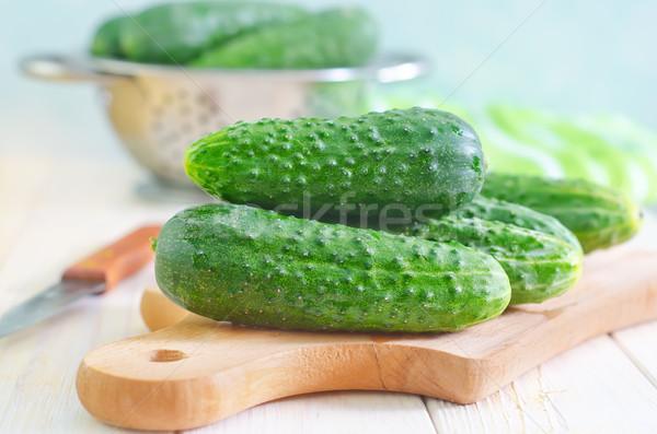 Stock fotó: Háttér · kés · saláta · stúdió · tábla · zöldség