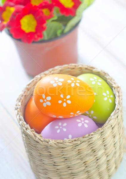 Huevos de Pascua Pascua primavera huevo cuadro espacio Foto stock © tycoon
