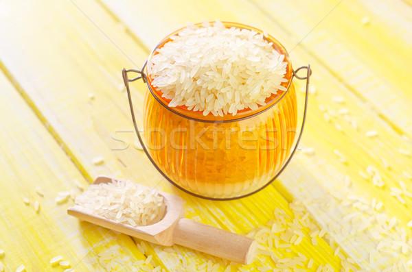Pirinç gıda ahşap arka plan akşam yemeği Stok fotoğraf © tycoon