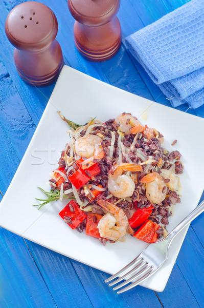 Stock fotó: Sült · rizs · zöldségek · vacsora · ázsiai · kínai