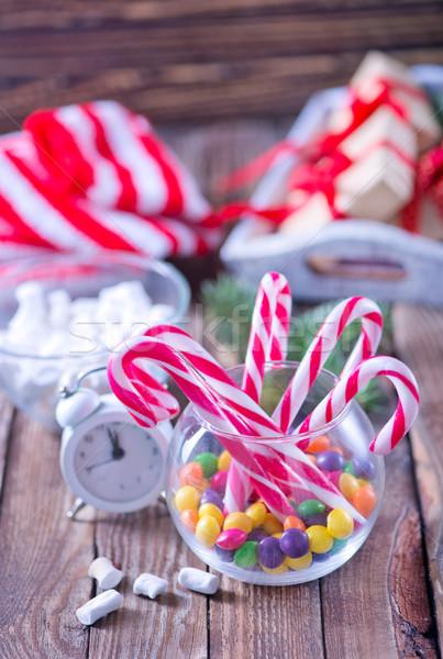 Christmas snoep decoratie tabel boom partij Stockfoto © tycoon