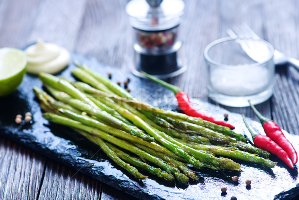 fried asparagus Stock photo © tycoon