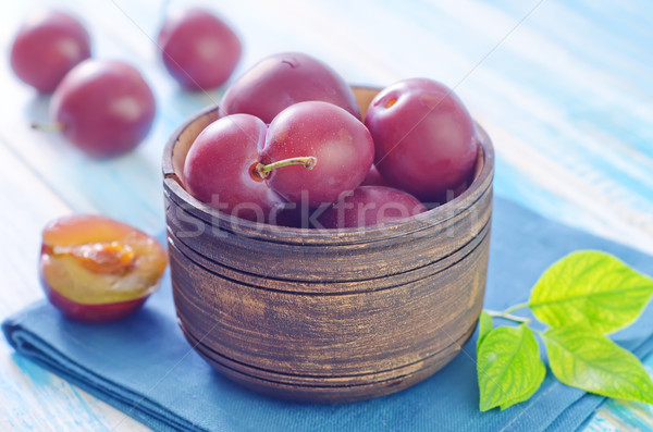 Erik gıda doğa meyve yeşil yeme Stok fotoğraf © tycoon