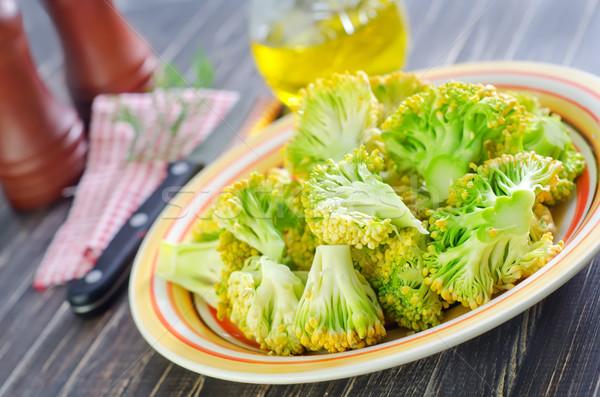 ブロッコリー プレート 自然 緑 生活 色 ストックフォト © tycoon
