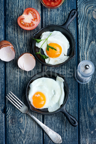 fried eggs Stock photo © tycoon