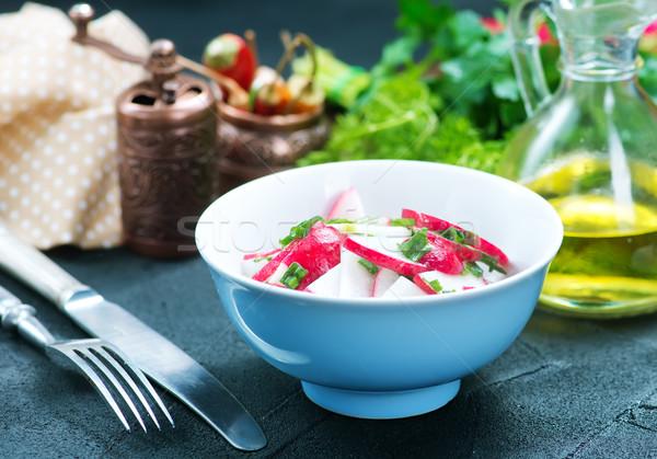 Retek saláta salátástál asztal olaj piros Stock fotó © tycoon