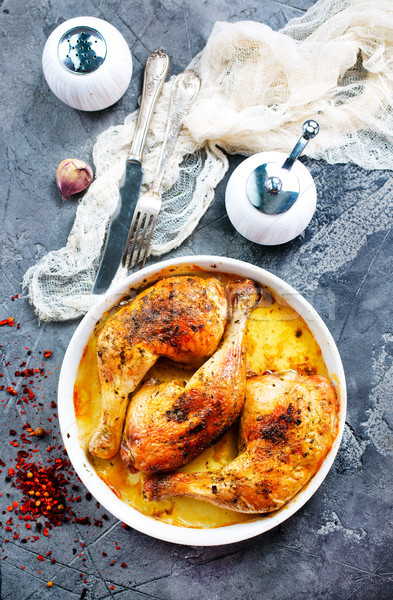 baked chicken legs  Stock photo © tycoon