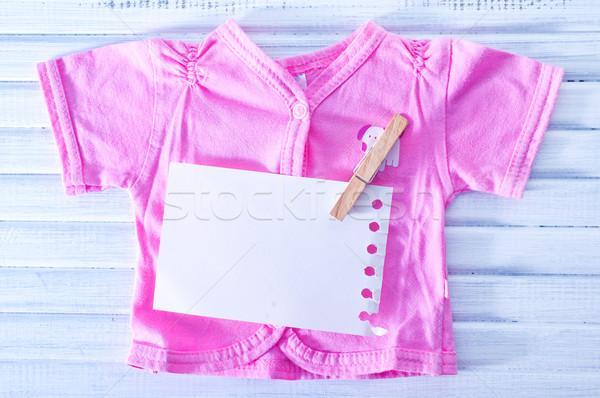 Bebek elbise çocuk doğum günü uzay ayakkabı Stok fotoğraf © tycoon