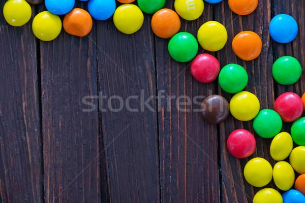 Color chocolate dulces mesa de madera textura fondo Foto stock © tycoon