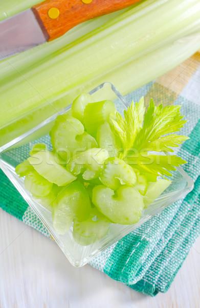 Céleri alimentaire santé couleur blanche manger Photo stock © tycoon