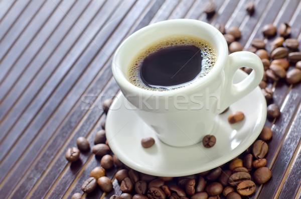Stok fotoğraf: Kahve · lezzet · baharat · gıda · arka · plan · plaka