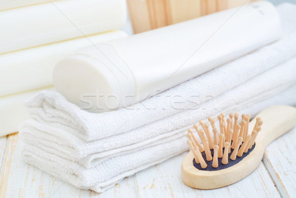 towels and shampoo Stock photo © tycoon
