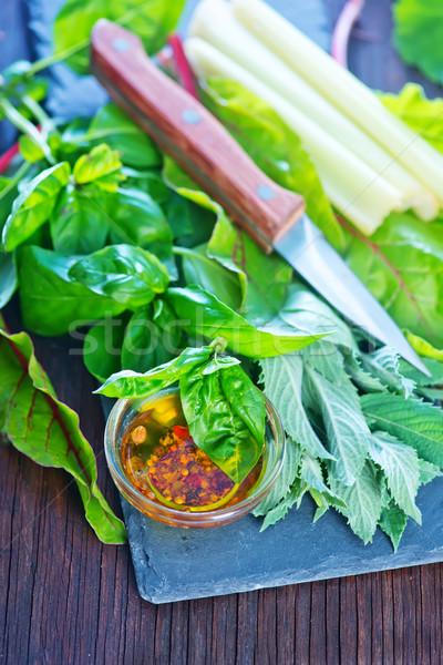 Fresco legumes tabela comida grama jardim Foto stock © tycoon