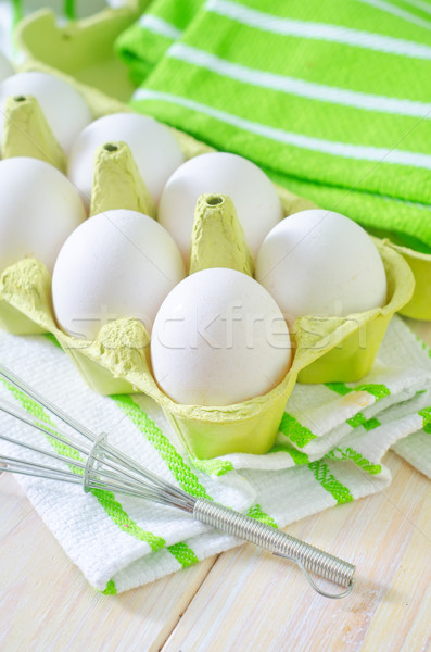 raw eggs Stock photo © tycoon