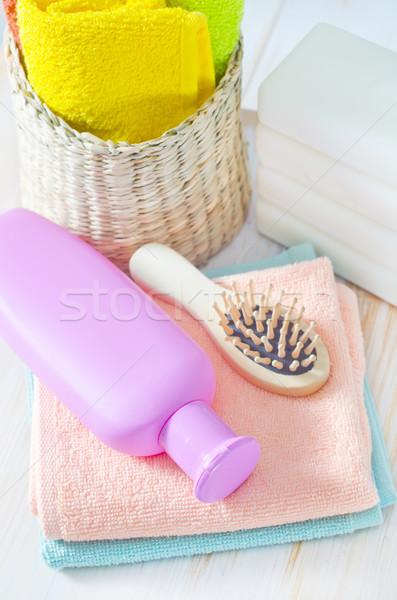Colore asciugamani shampoo corpo salute bellezza Foto d'archivio © tycoon