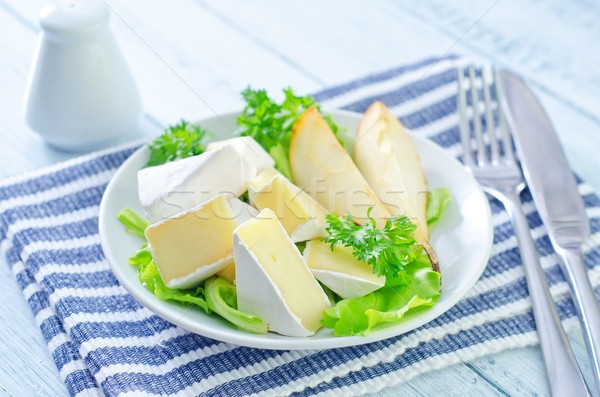 salad with camembert and pears Stock photo © tycoon