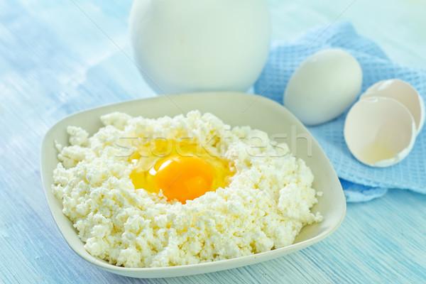 коттедж яйца продовольствие древесины сыра темно Сток-фото © tycoon