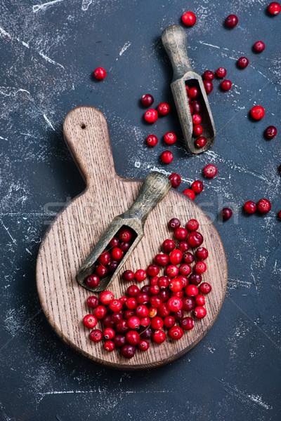 クランベリー 木板 表 食品 森林 背景 ストックフォト © tycoon
