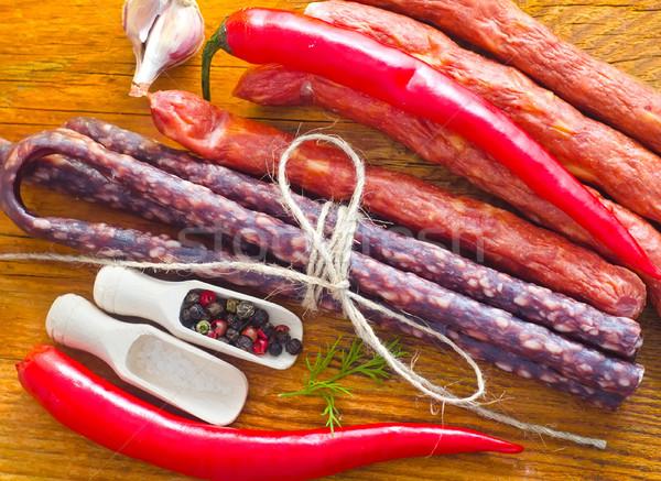 деревянный стол аромат Spice продовольствие обеда Сток-фото © tycoon