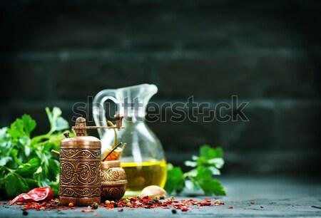 Тофу сыра пластина таблице трава азиатских Сток-фото © tycoon