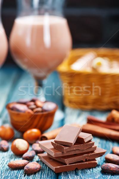 Chocolade aroma Spice tabel bar bureau Stockfoto © tycoon
