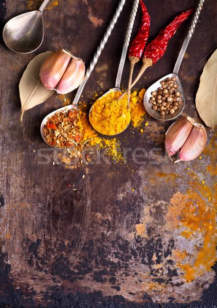 Aroma Spice tavola rosso colore Foto d'archivio © tycoon
