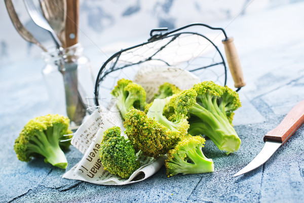 Broccoli tavola fresche stock foto verde Foto d'archivio © tycoon